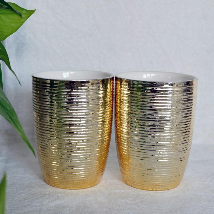 创意金色陶瓷杯